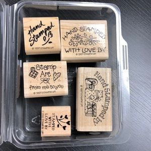 "Stampin' Up! ""Hand Stamped By"" Stamp Set"